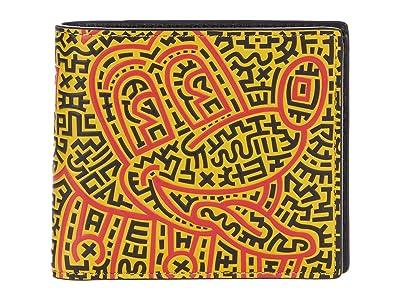 COACH Disney X Keith Haring Double Billfold in Graffiti Mickey Print