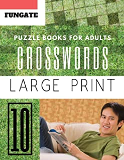 Crossword Puzzle Books for Adults: Fungate Full Page Crosswords to Challenge Your Brain (Find a Word for Adults & Seniors) (crossword puzzle books easy large print)