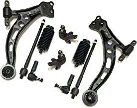 PartsW 10 Pc Suspension Kit for Lexus ES300 & Toyota Avalon Camry Front Lower Control Arms & Ball Joints, Rack & Pinion Bellows, Inner & Outer Tie Rod Ends