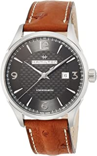 Jazzmaster Viewmatic Auto H32755851 Black/Brown Leather Analog Automatic Men's Watch