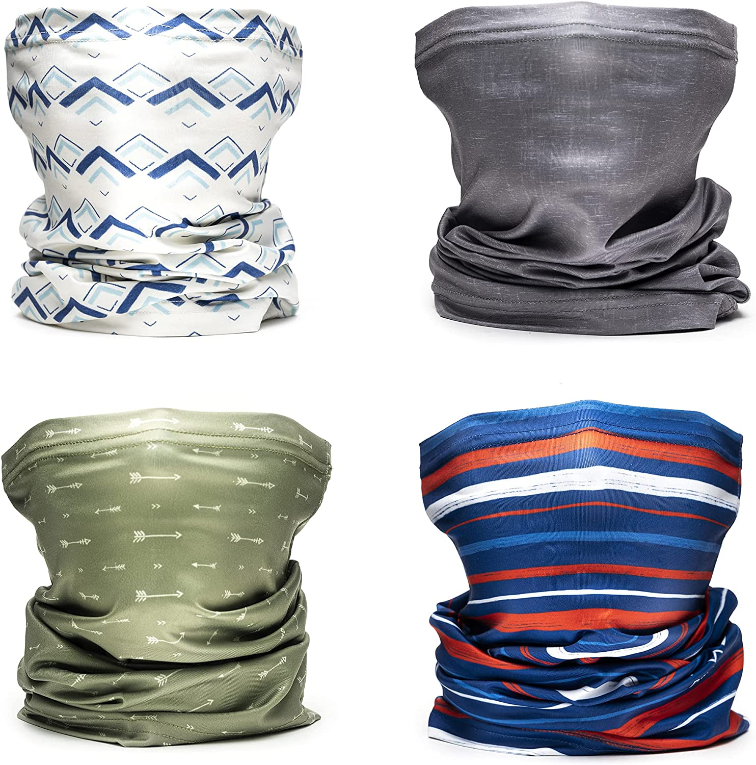 Drift Neck Gaiters - 4 Pack   High-Performance Fabric   95% Recycled   Two Sizes