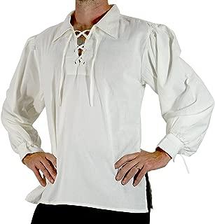 zootzu Merchant Mens Pirate Shirt Renaissance Costume, Festival, Steampunk, Medieval, Viking Cosplay