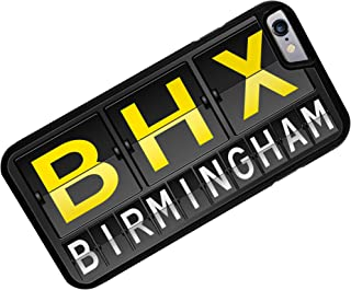 Case for iPhone 6 Plus BHX Airport Code for Birmingham - Neonblond