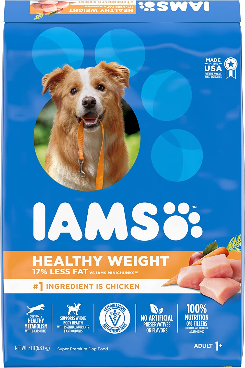 IAMS PROACTIVE HEALTH Adult Healthy Weight Control Dry Dog Food with Real Chicken, 15 lb. Bag: Pet Supplies