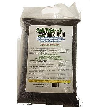 5 Pounds: Water Absorbing Crystal Polymer Soil Moist Soil Vigor + Humic Acid (Organic Fertilizer) Combo: Commercial- Grade