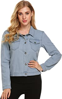 Womens Casual Denim Jean Jacket Classic Trucker Jackets