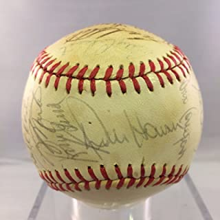 1983 Kansas City Royals Team Signed Baseball George Brett Quisenberry PSA DNA