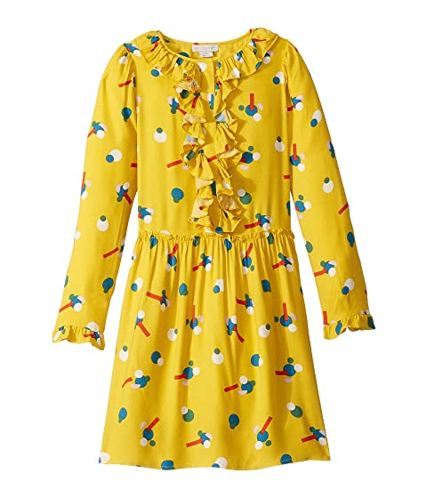 Stella McCartney Kids Printed Dress with Frills (Toddler/Little Kids/Big Kids)