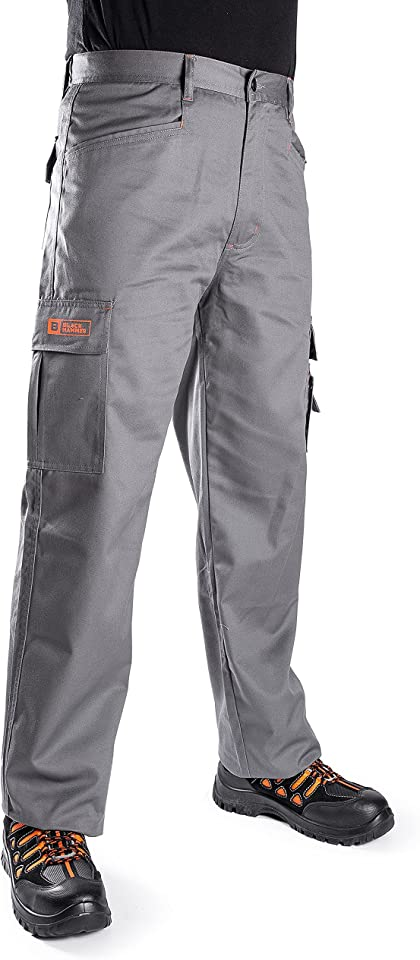 Mens Combat Work Trousers Cargo Pants Multi Pockets Joggers Reinforced Seams Tradesman