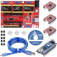 HiLetgo/® 2pcs V3 Engraver Shield 3D Printer CNC Expansion Board A4988 Driver Board for Arduino