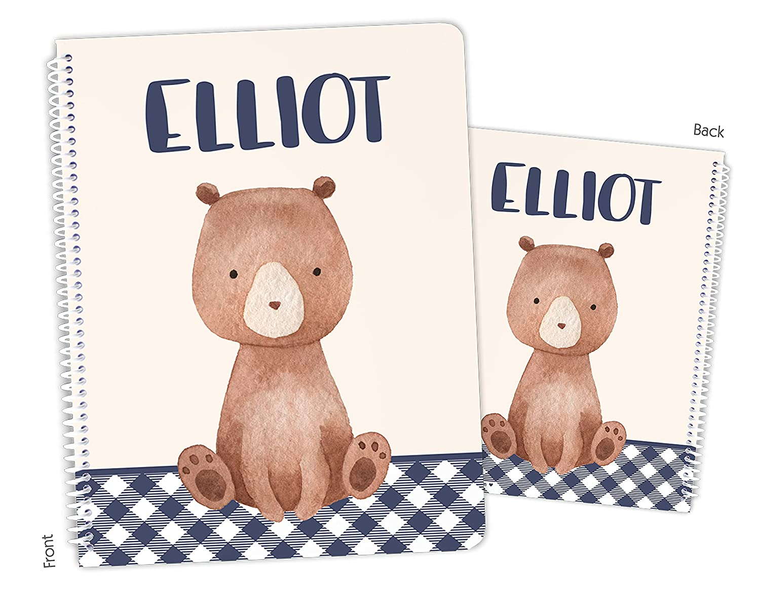 Personalized Teddy Bear Brown Sketchbook Philadelphia Mall Spiral Long-awaited Notebook Bound