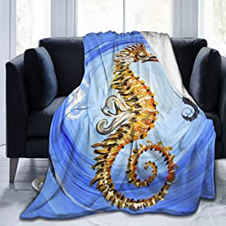Seahorse Blanket,Soft Lightweight Flannel Fleece Blanket for Couch Sofa Travel Living Room Home,Warm Bed Blankets for Kids...