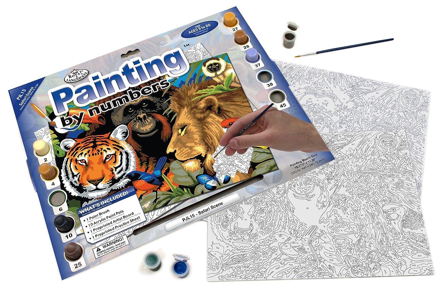 Royal & Langnickel Painting by Numbers Junior Large Art Activity Kit, Safari Scene