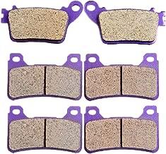 ECCPP FA436 Brake Pads Front and Rear Carbon Fiber Replacement Brake Pads Kits Fit for 2006-2011 Honda CBR1000RR,2007-2011 Honda CBR600RR