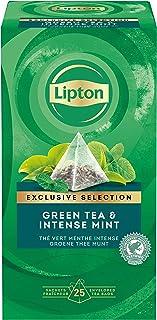 Lipton Grüner Tee, Intensive Minze Pyramidbeutel, 1er Pack 1 x 25 Teebeutel