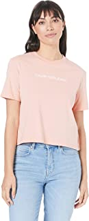Calvin Klein Jeans Women's Shrunken Institutional Crop Tee