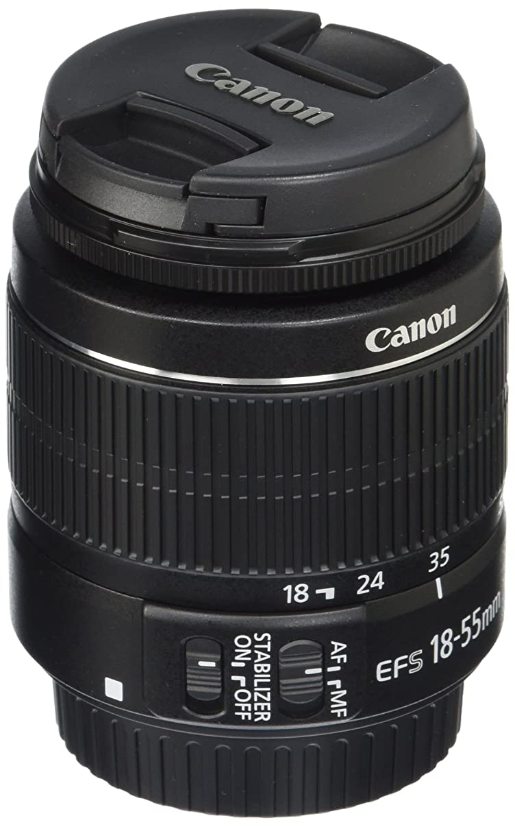 Canon 2042B002-cr EF-S 18-55mm f/3.5-5.6 is II SLR Lens (Renewed), Black