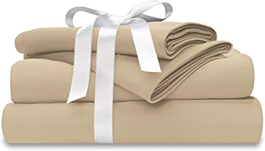 Wicked Sheets Moisture-Wicking + Cooling Bed Sheet Set/for Night Sweats & Hot Flashes (California King, Deep Pocket, Beige)