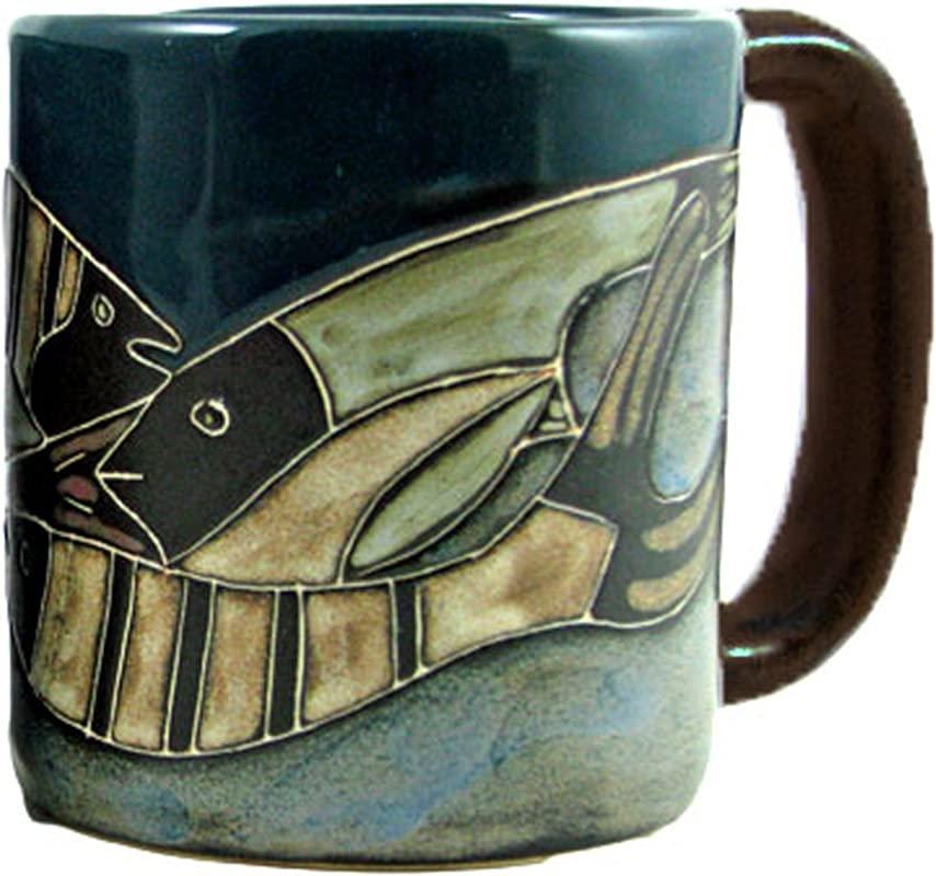 Mara Stoneware Mug Fish School 16 Oz
