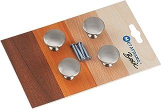 Metafranc Meubelknop Ø 30 mm - roestvrijstalen look - 4 stuks - hoogwaardige afwerking - mooi vormgegeven & decoratief - i...