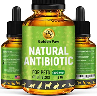 Natural Antibiotic for Dogs - Immune System Booster for Dogs - Kennel Cough Remedy for Pets - UTI Treatment - Allergy Immune Supplement for Pets - Antibiotics Alternative for Cats