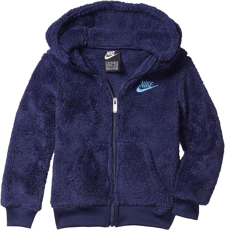 Nike Kids Boy's Double-Faced Sherpa Full Zip Hoodie (Little Kids)