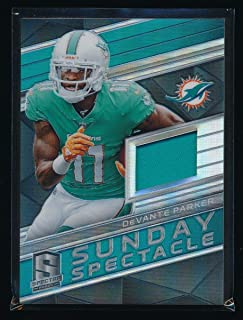 DEVANTE PARKER 2018 PANINI SPECTRA SUNDAY SPECTACLE JERSEY 29/199 MIAMI DOLPHINS