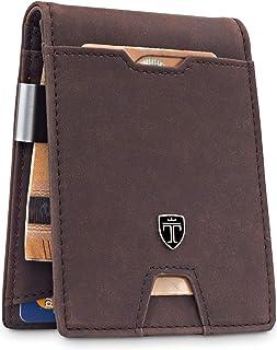 TRAVANDO ® Portafoglio Uomo con Clip per Contanti ZURICH - 11 Tasche per la Carte - Porta carte di credito - Protezione RF...