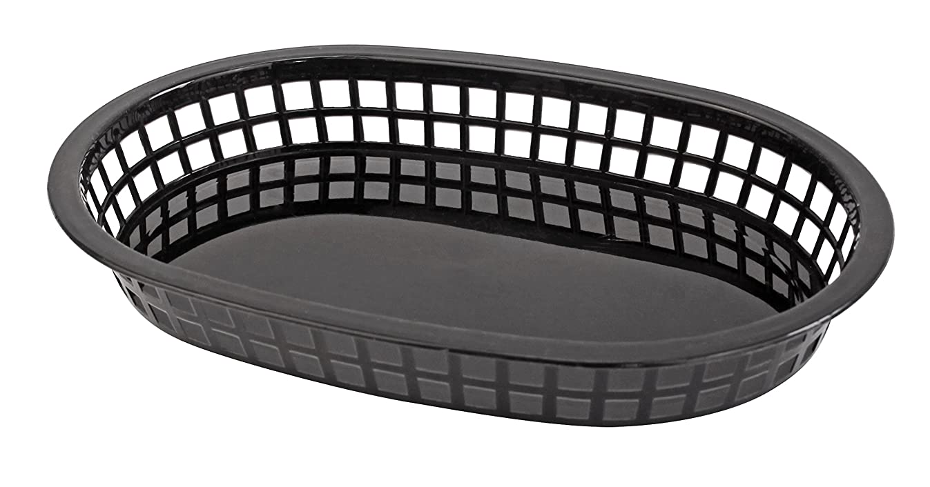 New Star Foodservice 44058 Fast Food Baskets, 10.5 x 7 Inch, Set of 36, Black
