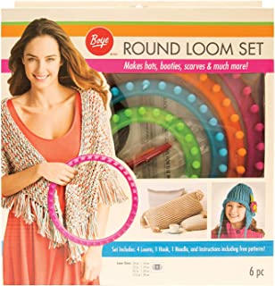 Boye Round Knitting Loom Set, 7pc, 5.5