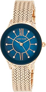 Anne Klein Women's Blue Dial Stainless Steel Band Watch - AK2208NMRG