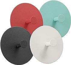 Bgfuni 4 stuks wandhaken, handdoekhaken, sleutelhaken, zelfklevend zonder boren, metalen wandhaken, rond, Scandinavisch de...