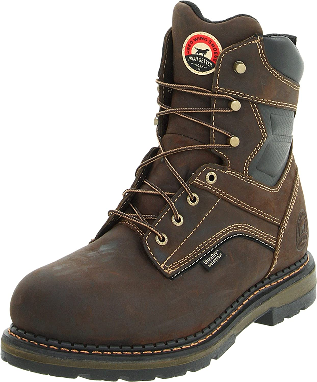 Irish Setter Men's 83800 8  Aluminum Toe Work Boot