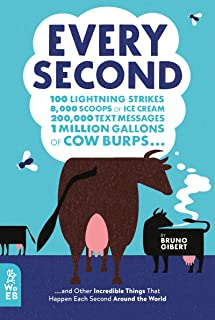 Every Second: 100 Lightning Strikes, 8,000 Scoops of Ice Cream, 200,000 Text Messages, 1 Million Gallons of Cow Burps ... ...