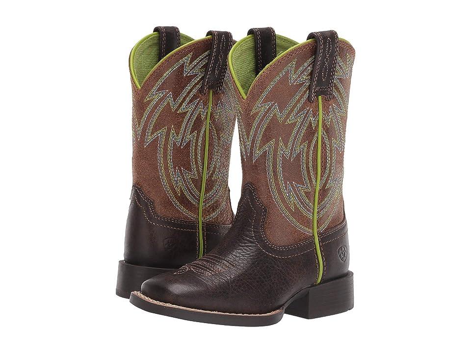 Ariat Kids Crossdraw (Toddler/Little Kid/Big Kid) (Espresso/Wicker) Cowboy Boots