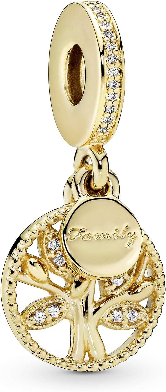 Pandora Jewelry Family Tree Dangle Cubic Zirconia Charm in Pandora Shine