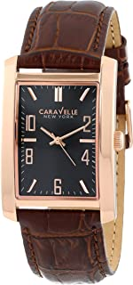 Caravelle New York Men's 44A104 Analog Display Japanese Quartz Brown Watch