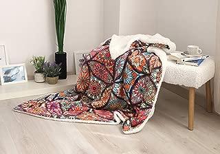 DHestia Manta de Sofá, Multicolor, 160x130 cm