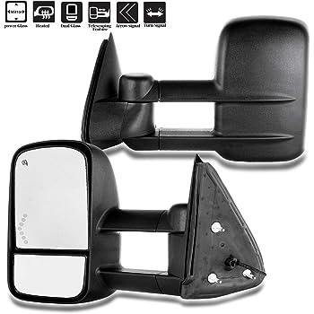 AERDM New Pair Towing mirrors Set Power Tow Heated Telescoping with Arrow Signal Light Side Mirrors Fit Chevy//GMC//Cadillac Silverado Sierra Avalanche Suburban Tahoe Yukon XL Escalade EXT ESV