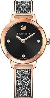 Ladies' Swarovski Cosmic Rock Black Dial Rose Gold Tone Watch 5376068