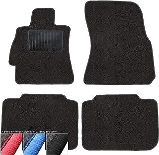 moto MOLTICO Fußmatten Auto Velours Autoteppiche Schwarz Automatten Set 4 teilig passend für Suzuki SX4 S Cross ab 2013 (Schwarze   Ziernähte)