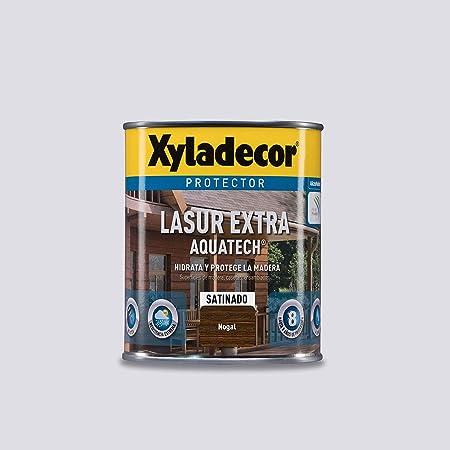 Xyladecor Lasur Extra Satinado Aquatech para madera Nogal 750 ml
