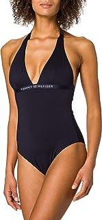 Tommy Hilfiger One-Piece Halter Parte Superior de Bikini para Mujer