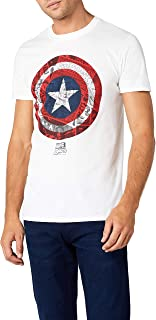 Marvel Ca Comic Shield Camiseta para Hombre