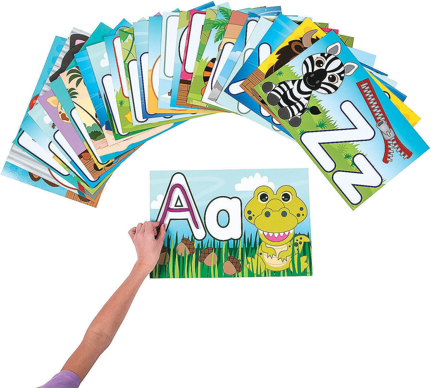 Fun Express Letter Attention brand Learning Mats - Educational 26 and OFFicial shop Pieces L
