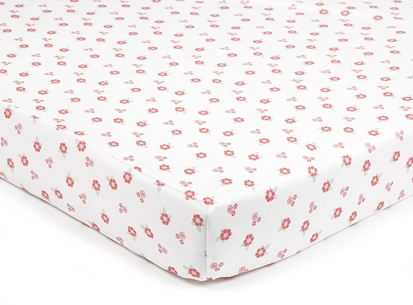 BreathableBaby Super Dry Cot Sheets In English Garden (Pack of 2)