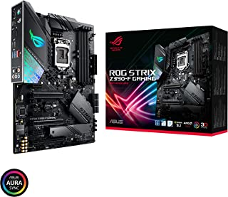 ASUS Intel Z390 LGA 1151 ATX gaming motherboard with Aura Sync, DDR4 4266 MHz+, dual M.2, SATA 6Gbps, HDMI and USB 3.1 Gen 2 (ROG STRIX Z390-F GAMING)