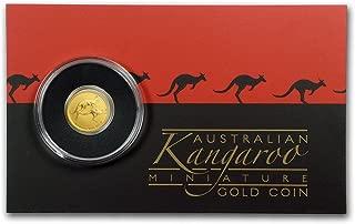 2018 AU Australia 1/2 Gram Gold Kangaroo Mini Roo BU (Assay Card) Gold Brilliant Uncirculated