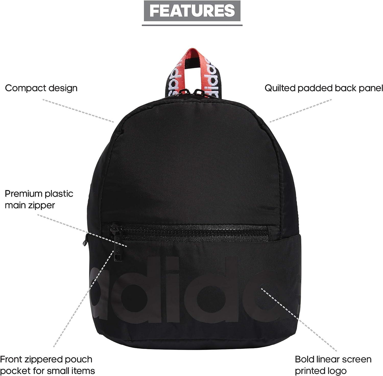 Amazon.com: adidas Linear Mini Backpack Black/Signal Pink/White ...
