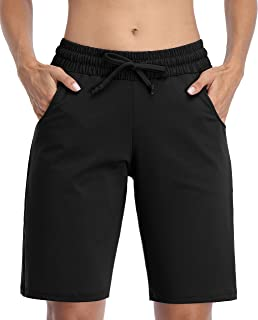 ATTRACO Bermuda Shorts for Women with Pocket Running Yoga Workout Sport Gym Boxing Athletic Walk Biker Shorts
